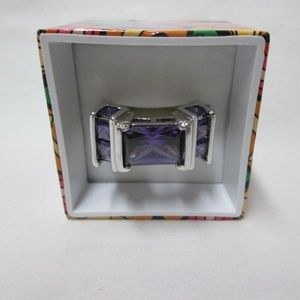 Sterling amythist cocktail ring size 8